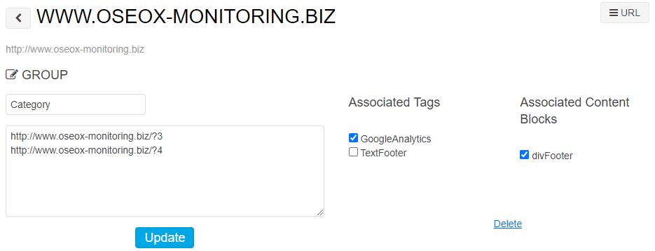 Monitoring tag & content